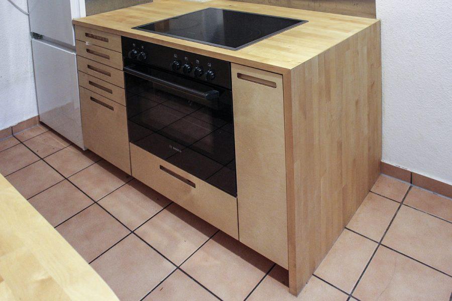 kleiner k che mit runder schrank nest design. Black Bedroom Furniture Sets. Home Design Ideas